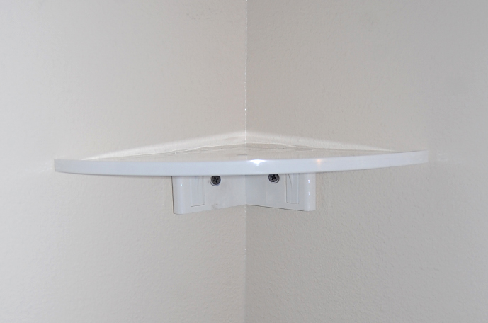 Easy Corner Shelf Inner White - CornerMate Floating Corner Shelves DIY Shelving