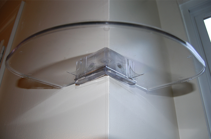Easy Corner Shelf Outer Clear - CornerMate Floating Corner Shelves DIY Shelving