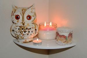 Inner White Shelf candles