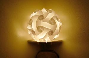Inner White Shelf lamp
